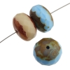 Fire polished 17mm Donut Mix Topaz Opal Bronze Blue Turquoise